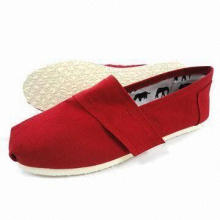 Men's Casual Shoes with Canvas Upper, EVA Outsole and Canvas Insole, Available in Various Sizes
