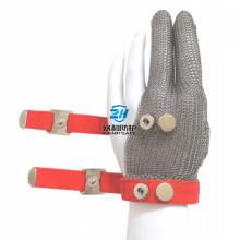 Three Fingers Steel Mesh Gloves