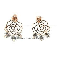 Cera de lujo que fija 6PCS AAA Zircon CZ flor pendiente para las mujeres 2015 mejor de alta calidad E6376