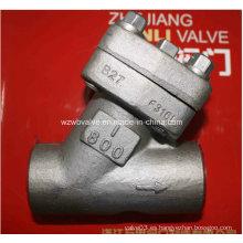 Filtro de acero en forma de Y forjado con extremos roscados