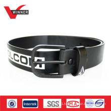 2014 Printed mens black PU belts