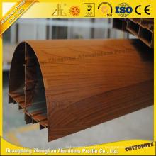 6063 Fenêtre en aluminium de grain de bois pour la décoration d'intérieur