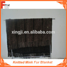 Real Fur Blanket knitted mink fur blanket