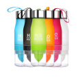 Free Shipping Fruit Lemon Water Bottle 650ml Multi Color H2O Water Drinking Bottle Infusion Sports Bottle