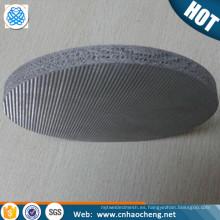 Multicapas de alta calidad sinterizadas 1 2 5 8 10 15 20 Disco de filtro de acero inoxidable de 25 micras