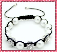 Fashion Jewelry Shell Pearl Bracelet shamballa bracelet-BM00387