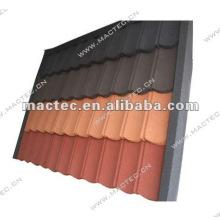 tuiles de toit enduites de pierre colorées