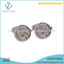 Abotoaduras de prata personalizados para homens, abotoaduras gravadas jóias