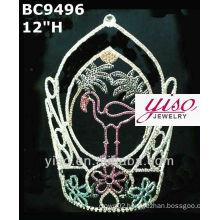 lovely hot sale crystal large tiara