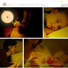 2017 Creative dormitorio luz de la noche LED Sensor de movimiento activado Kids Baby lámpara inalámbrica