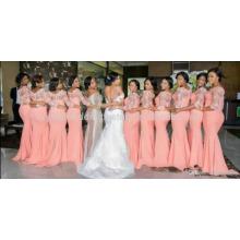 Long 2017 Vestido Madrinha Casamento Mermaid Long Sleeve Lace Bridesmaid Dresses MB951