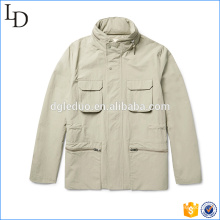 Nylon with cotton fashion men's double sided jacket custom made for men