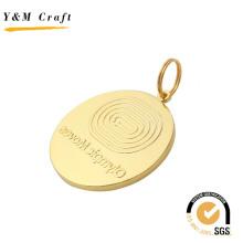 Medalla de logotipo en relieve de pintura dorada para la competencia