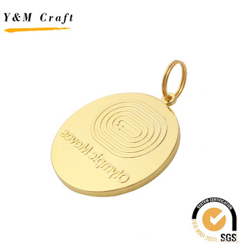 Gold Painting Embossed Logo Medal for Competition