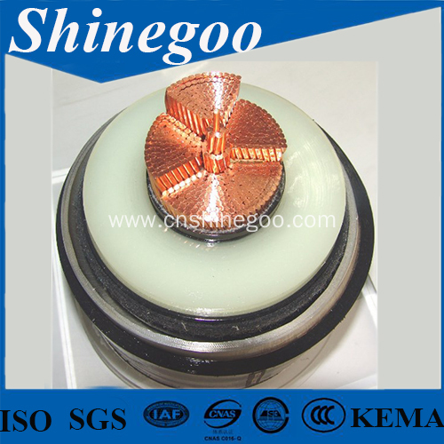 Cooper conductor silicon rubber insulated power cable