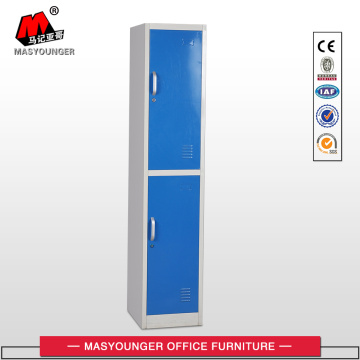 Metal Handle 2 Tier Door Armadietto in acciaio