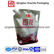 Flüssige Nahrungsmittelverpackungs-Tasche, Plastik stehen oben Tüllen-Beutel