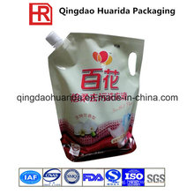 Liquid Food Packaging Bag, Plastic Stand up Spout Pouch