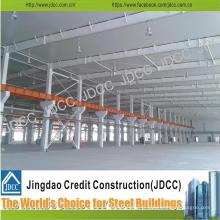 Entrepôt de structure en acier léger de galvanisation d'envergure de grande qualité