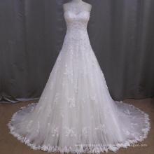 Latest Sweetheart A-line Floor Length Lace Wedding Dress