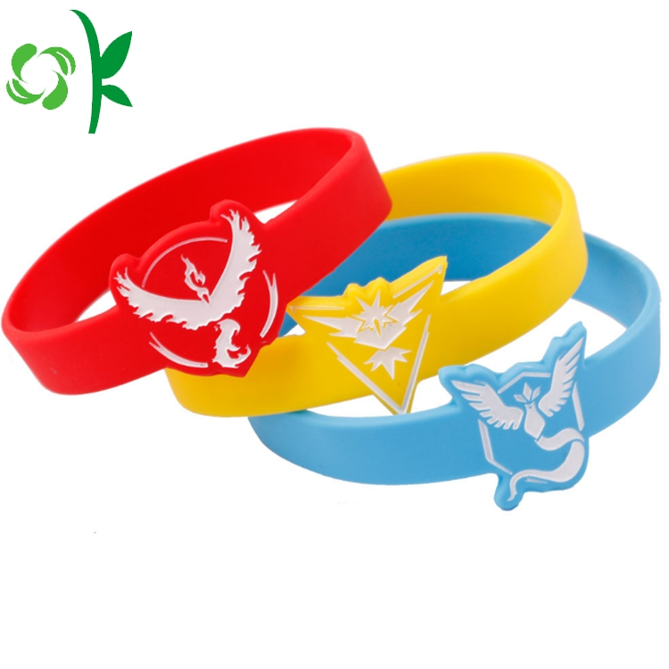 3 Color Silicone Engraved Bracelet