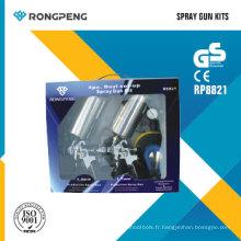 Rongpeng R8821 Kit de pistolet à pulvérisation HVLP Kits de pulvérisateur