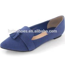 Pointe orteil chaussures femme avec tassel ladies chaussures talons plates chaussures ballet danse
