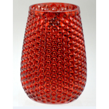 Small Red Pineapple with Dotted Pattern Candle Holder