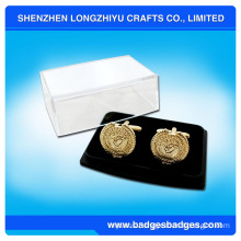 Die Casting Gold Cufflinks with Box
