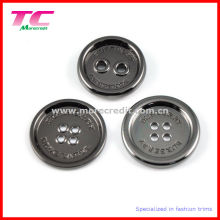 Custom Brand Coat Metal Buttons in High Quality Gun Metal Color (TC-BU140)