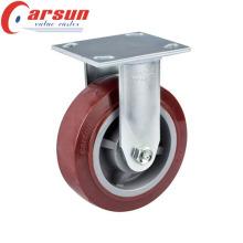 100mm Heavy Duty Rigid Castor with Polyurethane Wheel