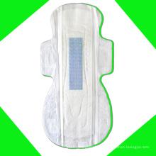 Maxi anión de etiqueta privada con algodón súper suave de toallas sanitarias