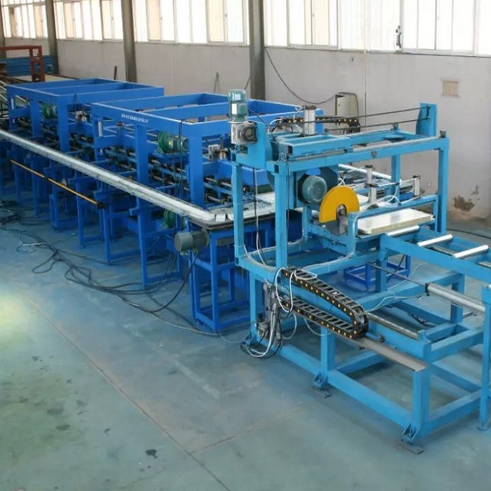 Eps Sandwich Panel Machine : Eps sandwich panel roll forming machine pu coated roofing