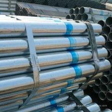 Stock de tuyau en acier soudé galvanisé de grand diamètre