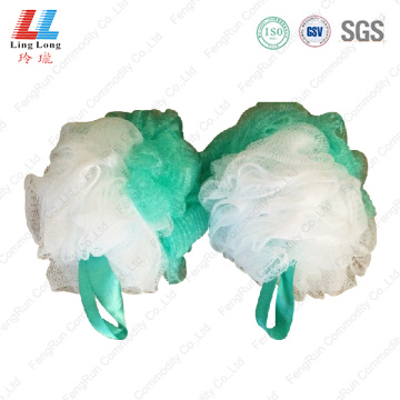 Two side mixture mesh sponge ball