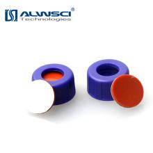 Septa de silicone PTFE de 9 mm com pré-fenda disponível