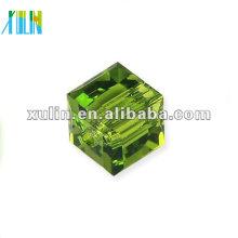 contas de cubo de vidro cristal 6mm atacado 5601 #