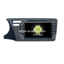 Vier Kern! Auto-dvd Android 6.0 für Stadt 2014 (Brasilien-Version mit 8 Zoll kapazitivem Schirm / GPS / Spiegel-Verbindung / DVR / TPMS / OBD2 / WIFI / 4G