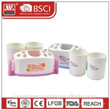 Пластиковая зубная щетка держатель w/2 чашки