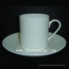 China de hueso Esprssso taza y plato (CY-B541)