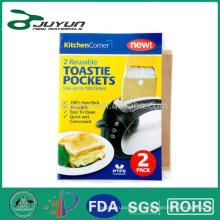 Reusable Toasty Bag - conjunto de 2, desorden libre, cocinar los alimentos en tostadora, parrilla, horno