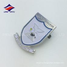 Insignias de la universidad del perno de seguridad del blindaje del metal