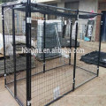Valla de perro de perro de esgrima de acero portátil de metal barato grande al aire libre