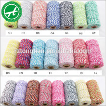 Hot sale golden color cotton bakers twine for gift wrapping,gift packing,wedding decoration