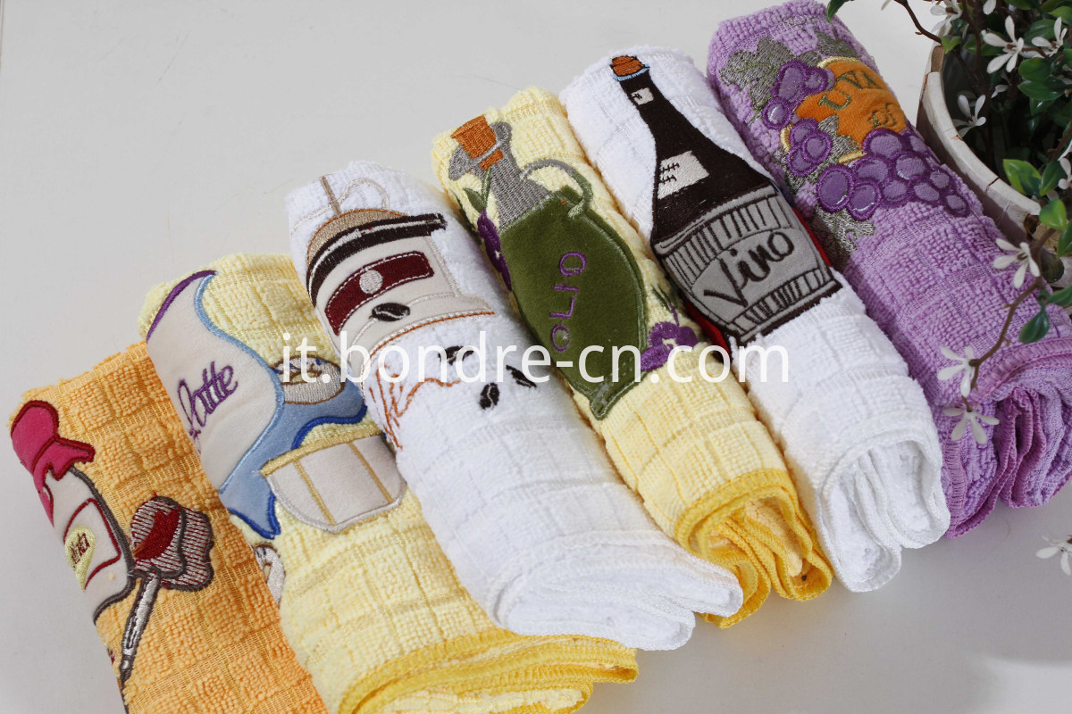 Microfiber Cleaning Towel With Embroidary (2)