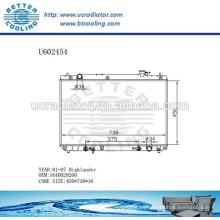 Radiador Para TOYOTA HIGHLANDER 01-07 Aluminio 1640028260 Fabricante y Venta Directa