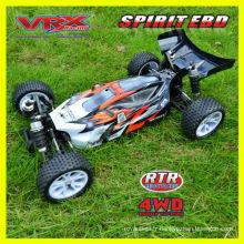 Vente chaude jouet, 01:10 voiture rc, buggy électrique 4WD, brossé version, bonnes structures.