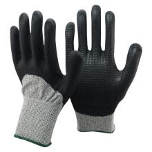NMSAFETY марка безопасности нитрила перчатки порезостойкие ладони en388