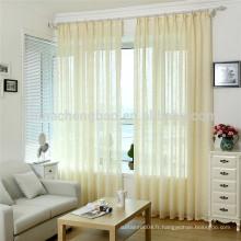 Simplement concevoir des rideaux en tissu de polyester en tissu jaune