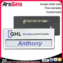 Cheap wholesale custom name badge name plate